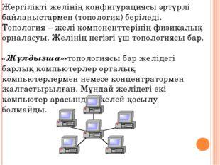Жергілікті желінің конфигурациясы әртүрлі байланыстармен (топология) беріледі