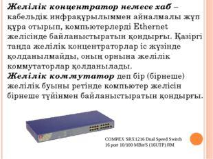 Желілік концентратор немесе хаб – кабельдік инфрақұрылыммен айналмалы жұп құр