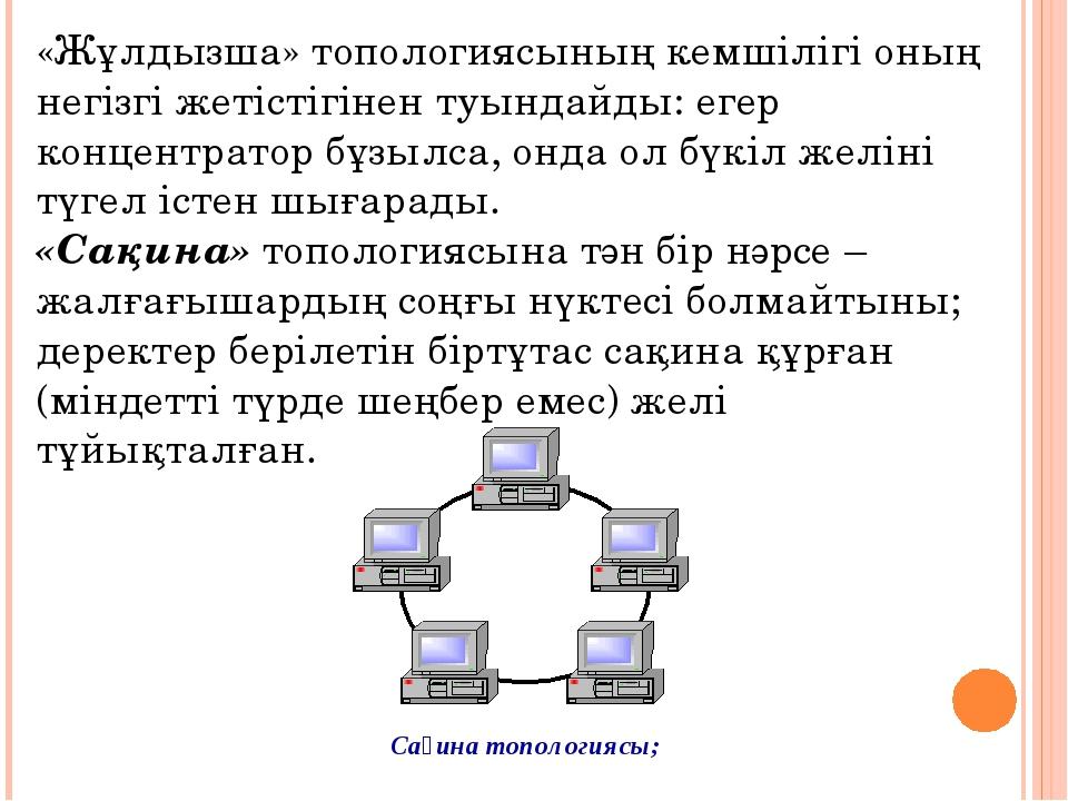«Жұлдызша» топологиясының кемшілігі оның негізгі жетістігінен туындайды: егер...
