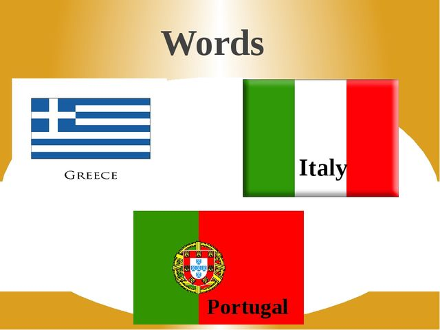 Words Italy Portugal