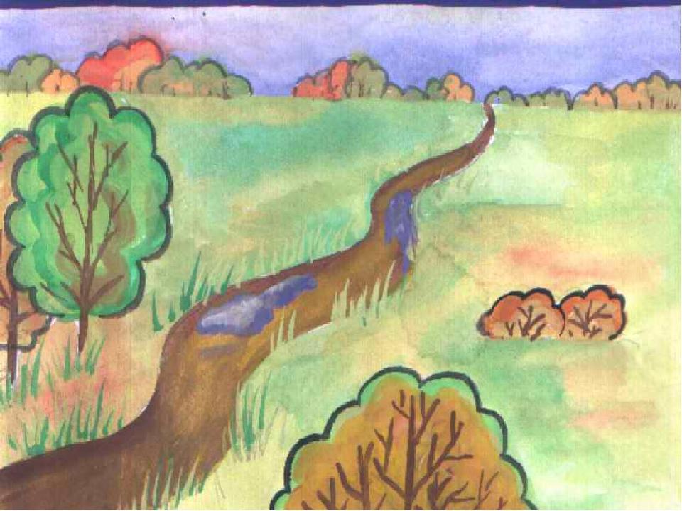 Детские рисунки на свободную тему