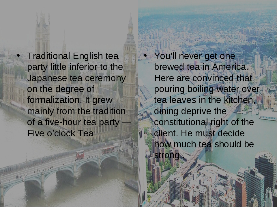 Traditional English tea party little inferior to the Japanese tea ceremony on...