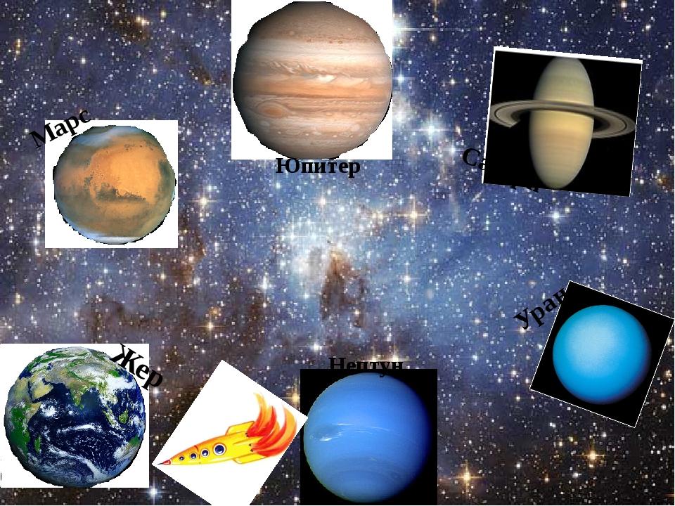Жер Марс Юпитер Сатурн Уран Нептун