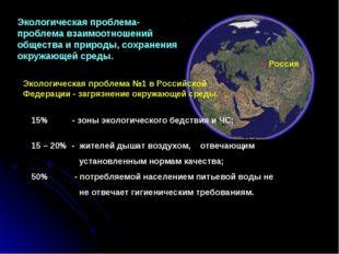 Экологическая проблема- проблема взаимоотношений общества и природы, сохранен