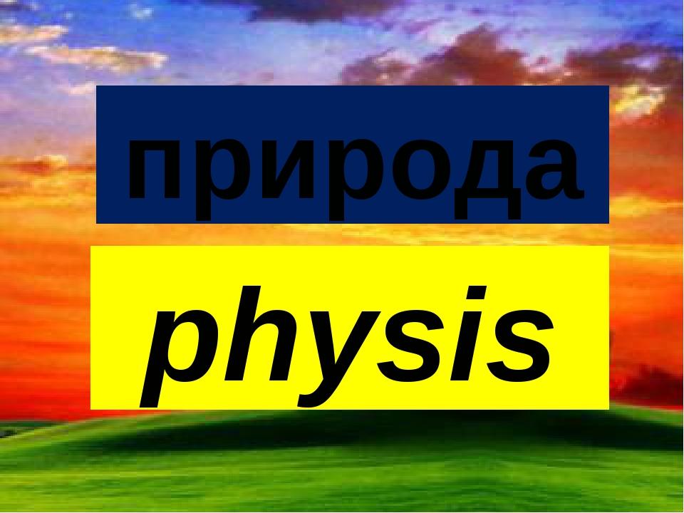 природа physis