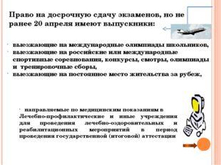Дополнительные сроки государственной (итоговой) аттестации Выпускники IX клас