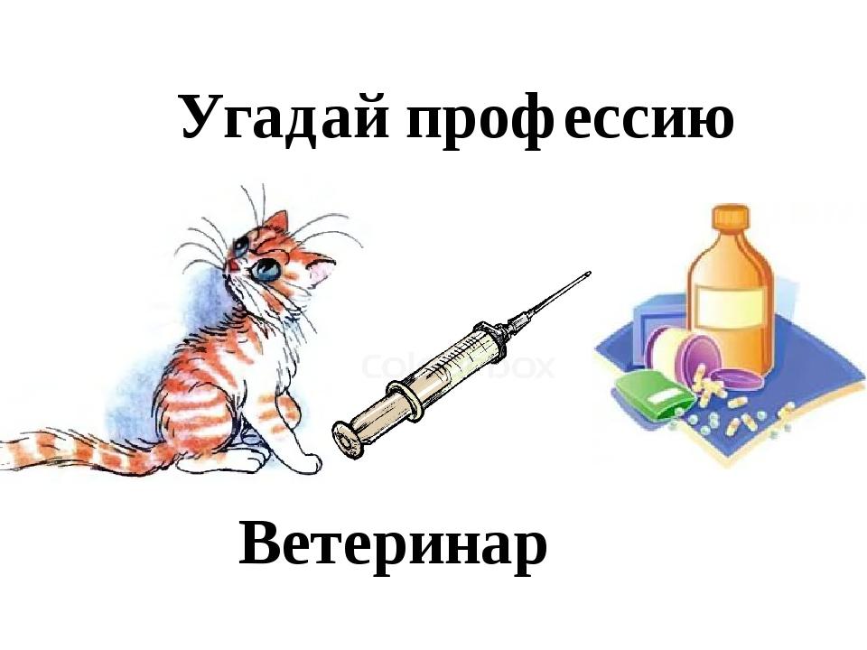 Угадай профессию Ветеринар