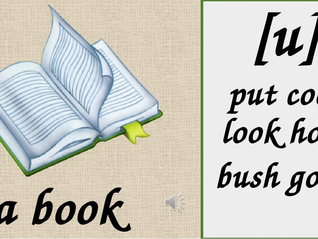 [u] put cook look hook bush good a book