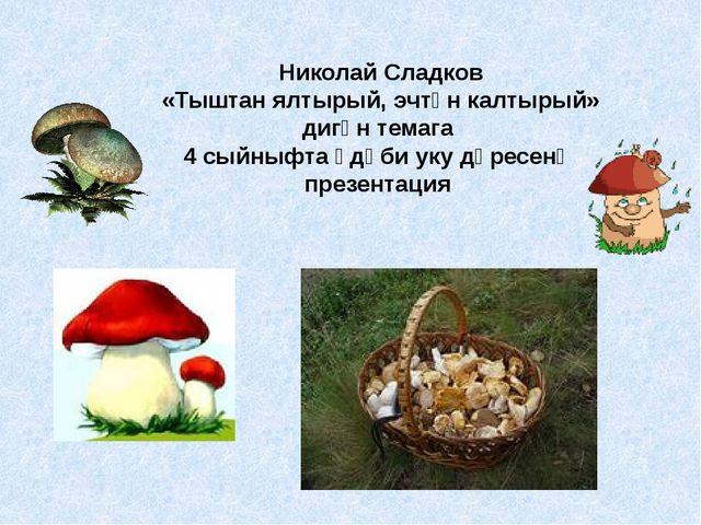 Николай Сладков «Тыштан ялтырый, эчтән калтырый» дигән темага 4 сыйныфта әдәб...
