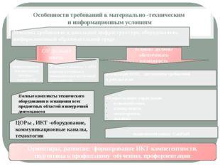 Особенности требований к материально -техническим и информационным условиям и
