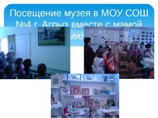 Посещение музея в МОУ СОШ №4 г. Агрыз вместе с мамой Эмиля