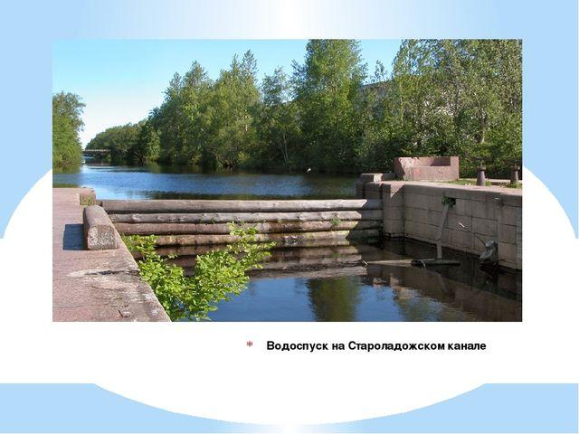 Водоспуск на Староладожском канале