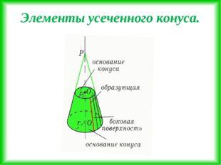 Элементы усеченного конуса.