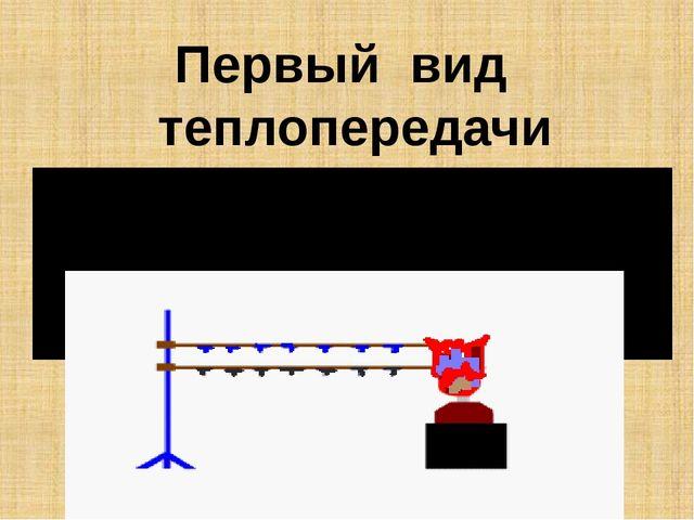 Первый вид теплопередачи Теплопроводность