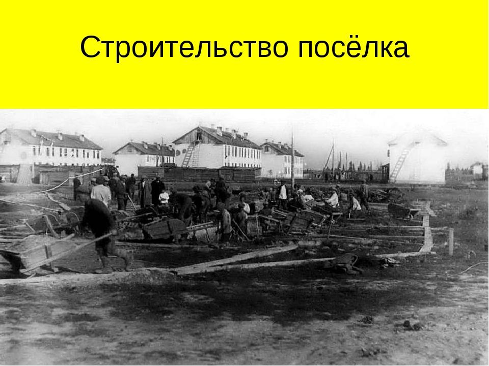 Строительство посёлка