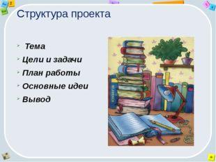 Структура проекта Тема Цели и задачи План работы Основные идеи Вывод 2 Tab 9