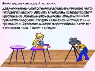 Иллюстрации к аксиоме А1 из жизни. Табурет с тремя ножками всегда идеально вс