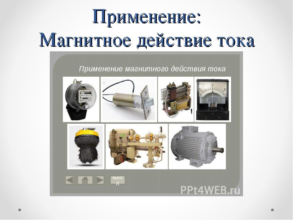Применение: Магнитное действие тока