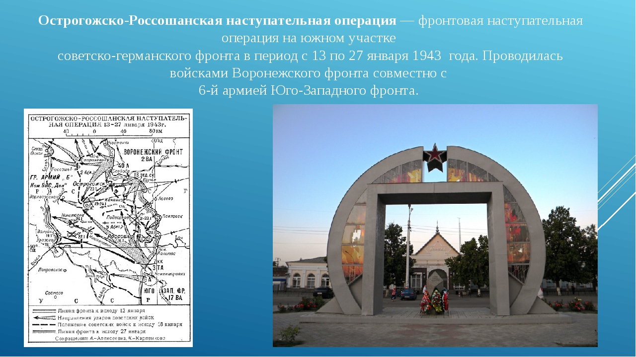 Острогожско-Россошанская наступательная операция— фронтовая наступательная о...