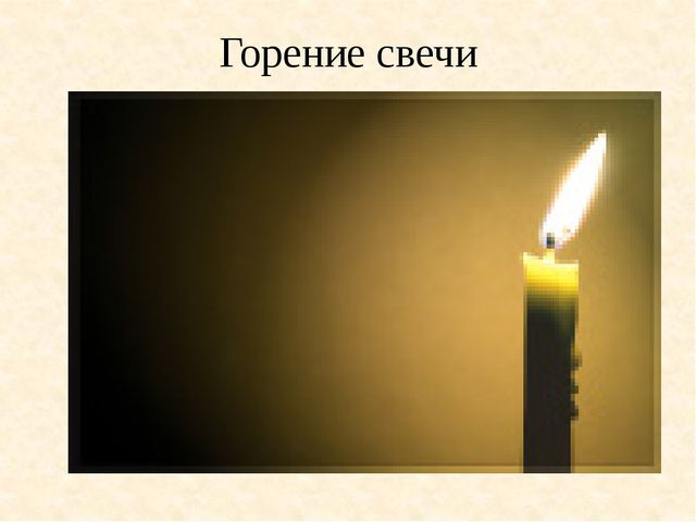 Горение свечи