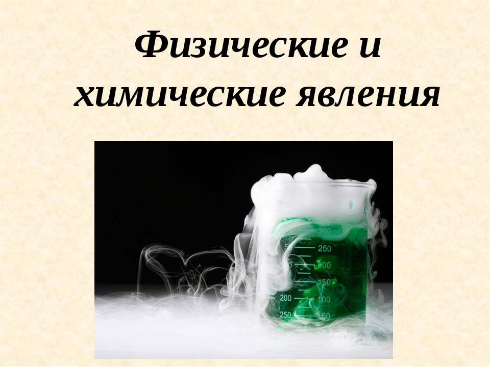 Физические и химические явления