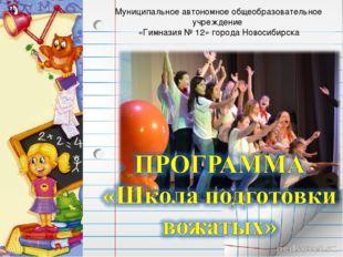 Муниципальное автономное общеобразовательное учреждение «Гимназия № 12» город