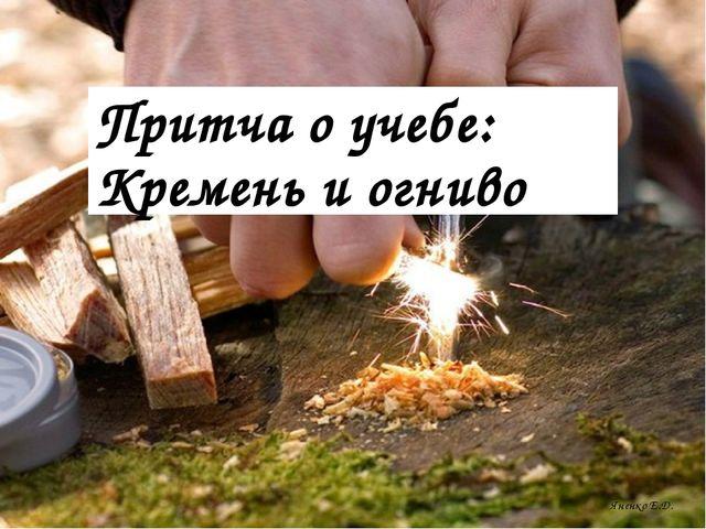 Яненко Е.Д. Притча о учебе: Кремень и огниво
