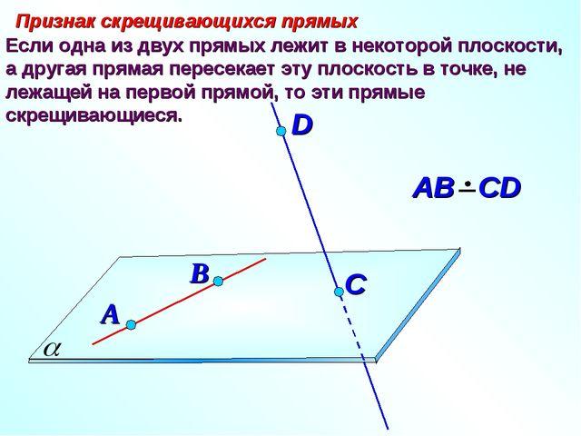 Если одна из двух прямых лежит в некоторой плоскости, а другая прямая пересек...