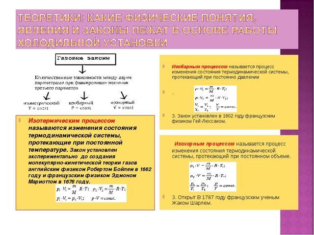 Изобарным процессом называется процесс изменения состояния термодинамической...