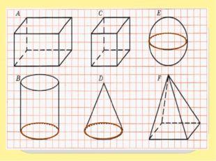 Для изображения пространственной фигуры приходится применять плоский чертеж,