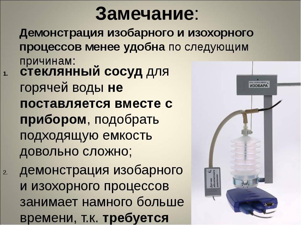 Замечание: стеклянный сосуд для горячей воды не поставляется вместе с приборо...