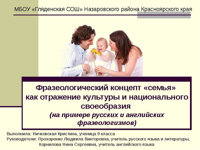 Фразеологический концепт «семья» как отражение культуры и национального свое...