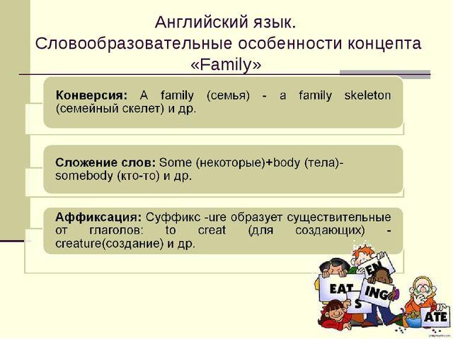 Английский язык. Словообразовательные особенности концепта «Family»