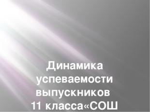 Динамика успеваемости выпускников 11 класса«СОШ п.Малокурганный» за 2015-201