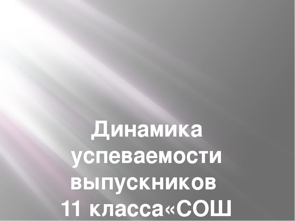 Динамика успеваемости выпускников 11 класса«СОШ п.Малокурганный» за 2015-201...