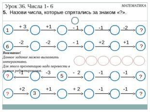1 + 3 +1 - 1 -1 -2 ? МАТЕМАТИКА -2 -2 - 1 +2 +1 ? +2 +1 + 2 -1 -1 ? 3 -1 -3