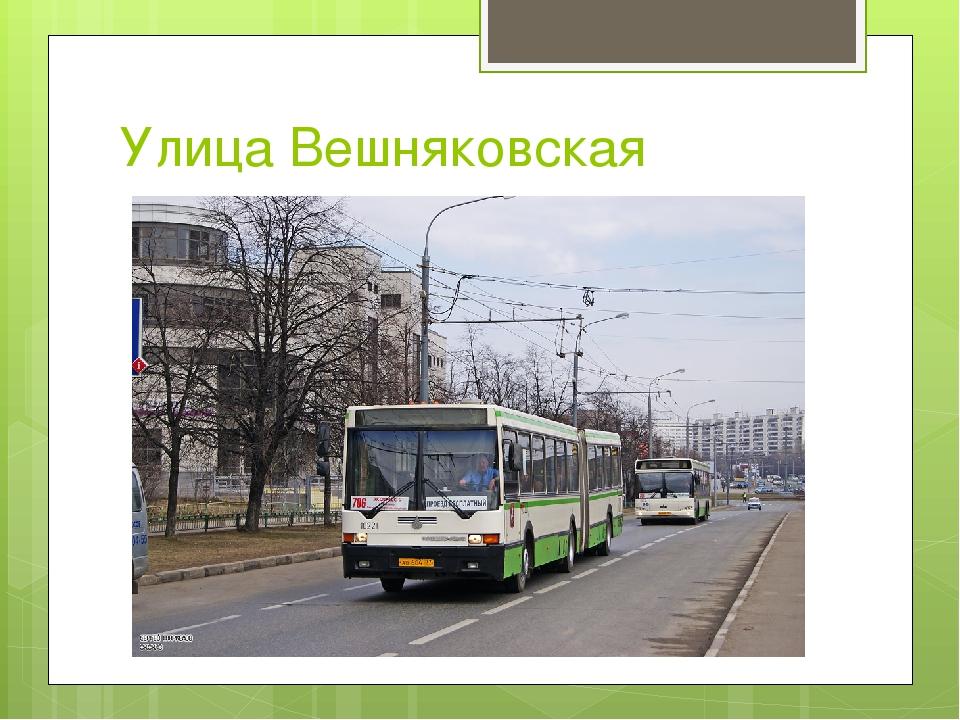 Улица Вешняковская