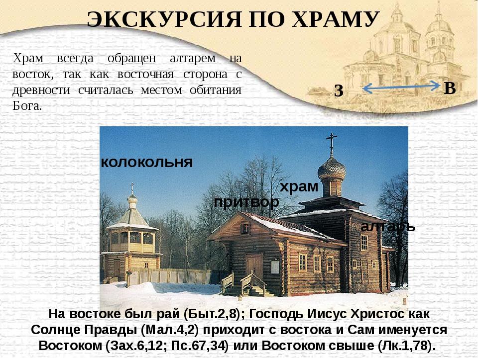 ЭКСКУРСИЯ ПО ХРАМУ колокольня притвор храм алтарь Храм всегда обращен алтарем...