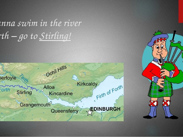 Wanna swim in the river Forth – go to Stirling!