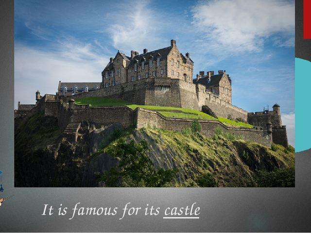 It is famous for its castle