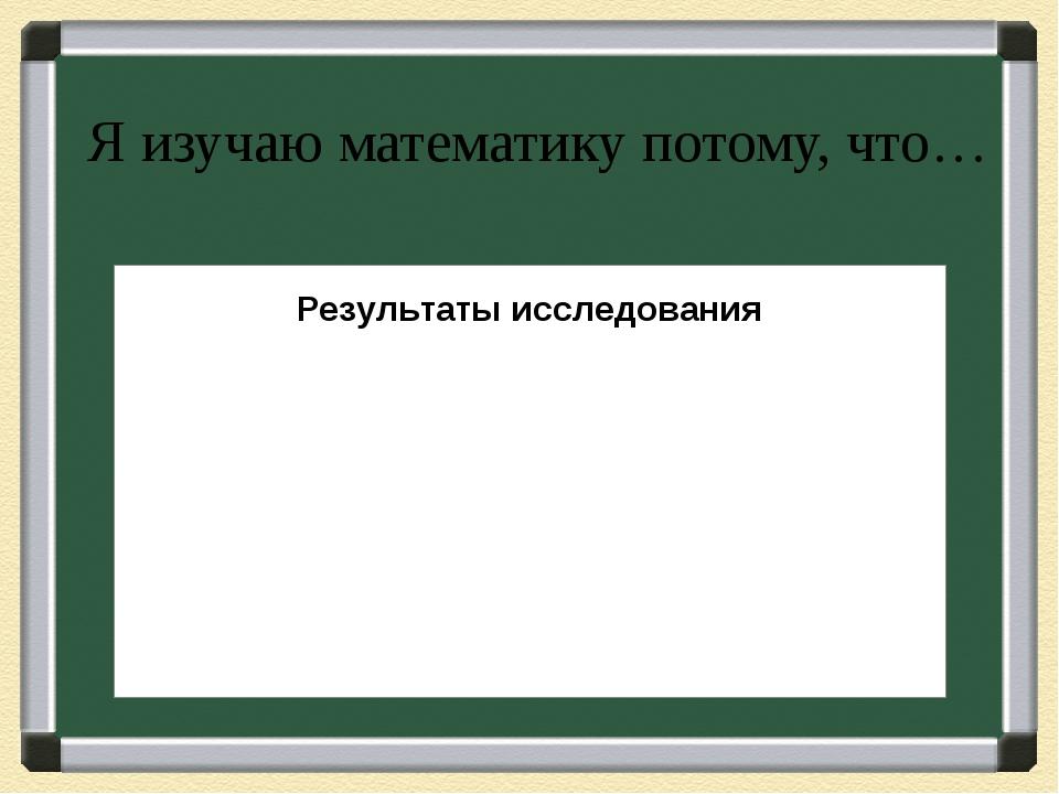 Я изучаю математику потому, что…