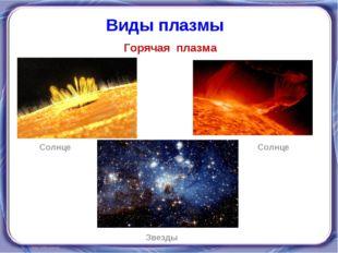 Горячая плазма Виды плазмы Солнце Звезды Солнце