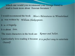 Which one would you recommend your foreign friend to read to learn more about