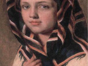 А.Г. Венецианов. Девушка в платке.