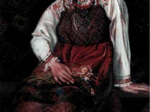 Н. Широкова. Портрет Насти Поповой.