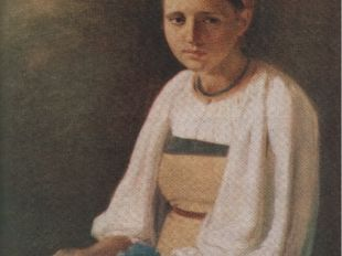 А. Венецианов «Крестьянка с васильками»