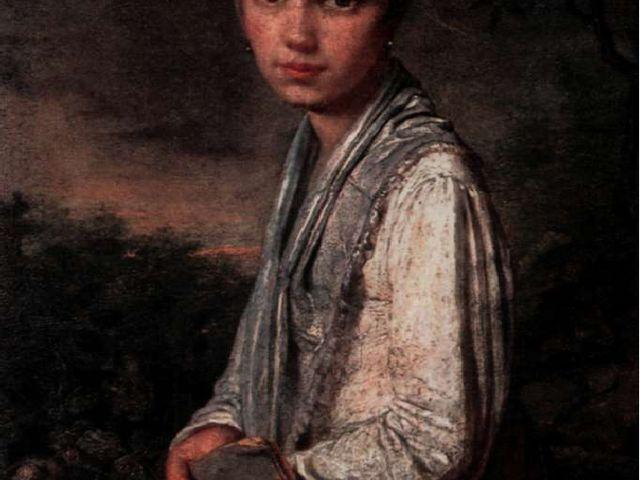 А. Веницианов. Портрет В. Путятиной.
