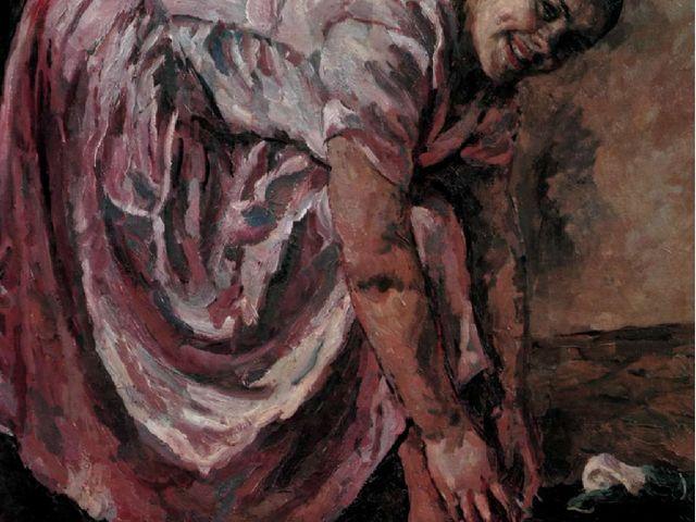 П.П. Кончаловский. Портрет дочери в розовом платье