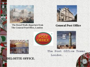The Post Office Tower, London. . General Post Office DELOITTE OFFICE. The Roy