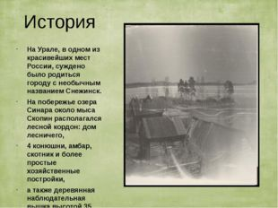 История На Урале, в одном из красивейших мест России, суждено было родиться г